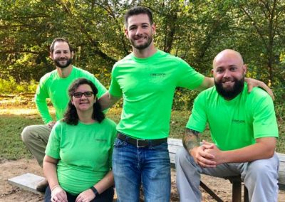 GreenWorks EcoScapes Team Members Sitting At Picnic Table